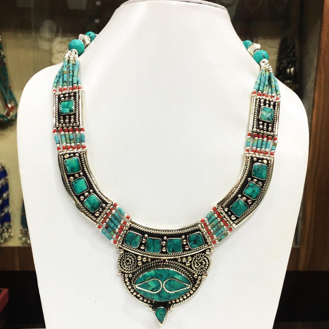 Buddhist Turquoise & Handmade Vintage Necklace
