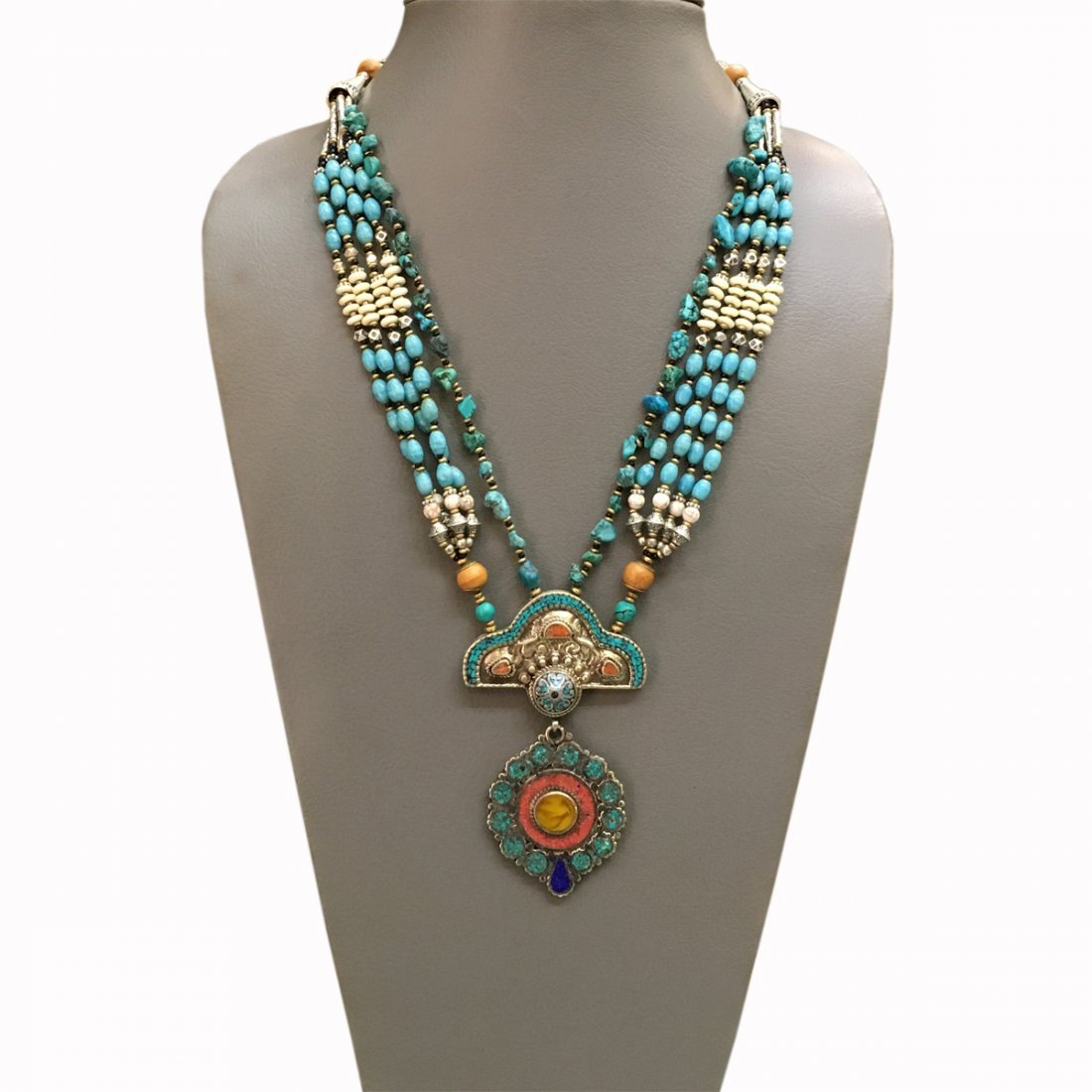 Tibetan Silver Tibetan Women\'s Coral Necklace