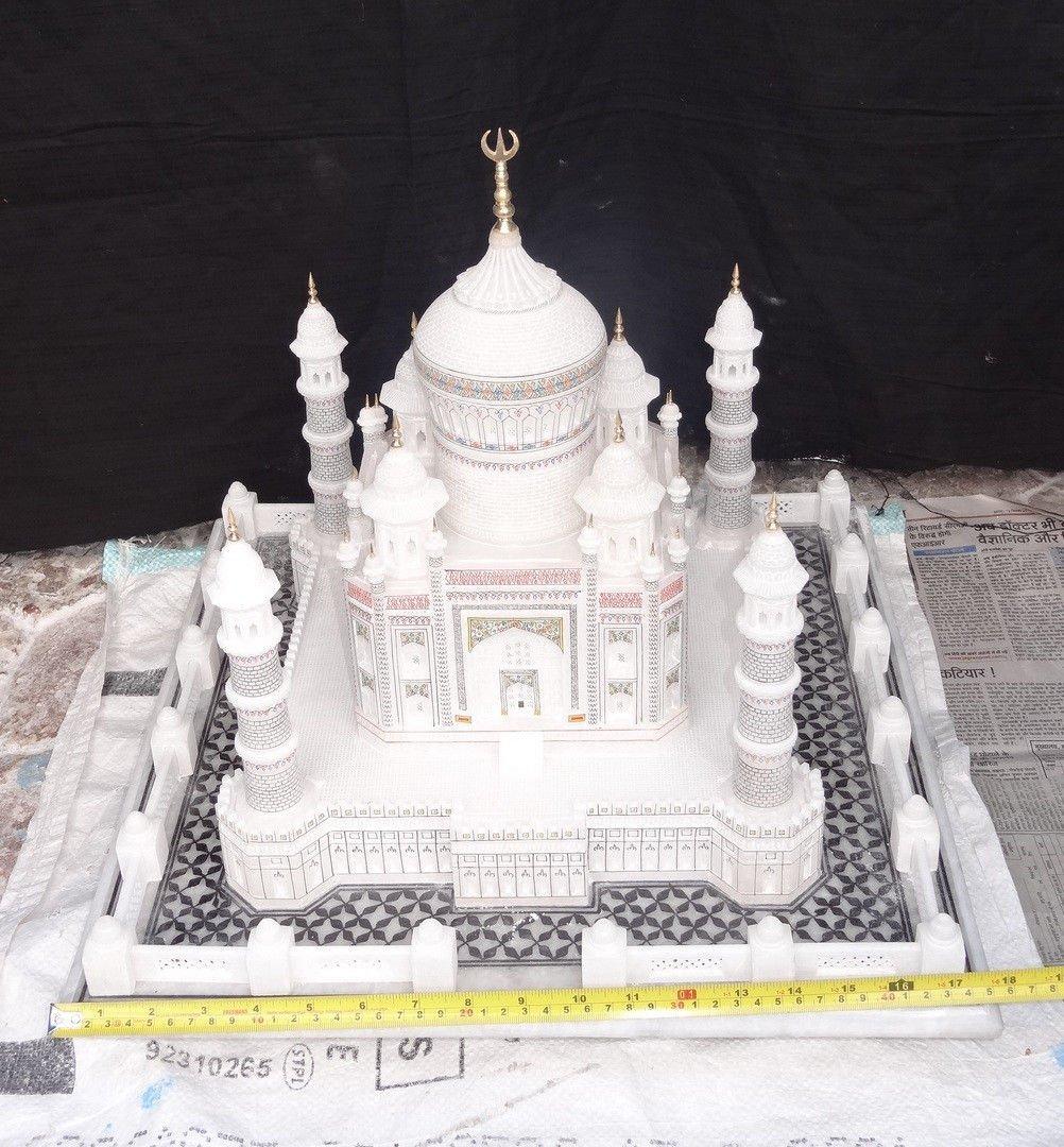 "18"" Marble India Taj Mahal Mughal Kalin Shahjahan"