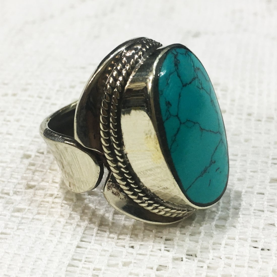 Turquoise Tribal Bohemian Handmade Ring