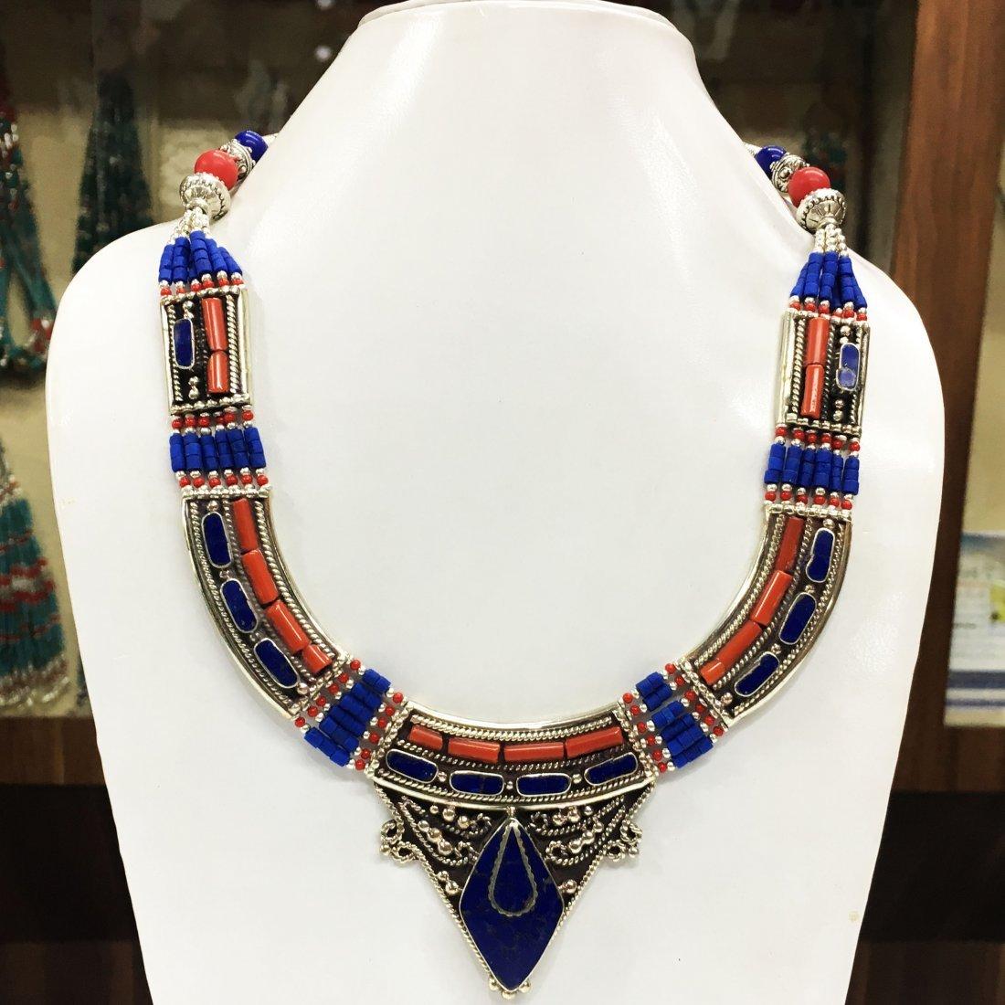 New Arrival - Tibetan Handmade Lapis & Coral Necklace