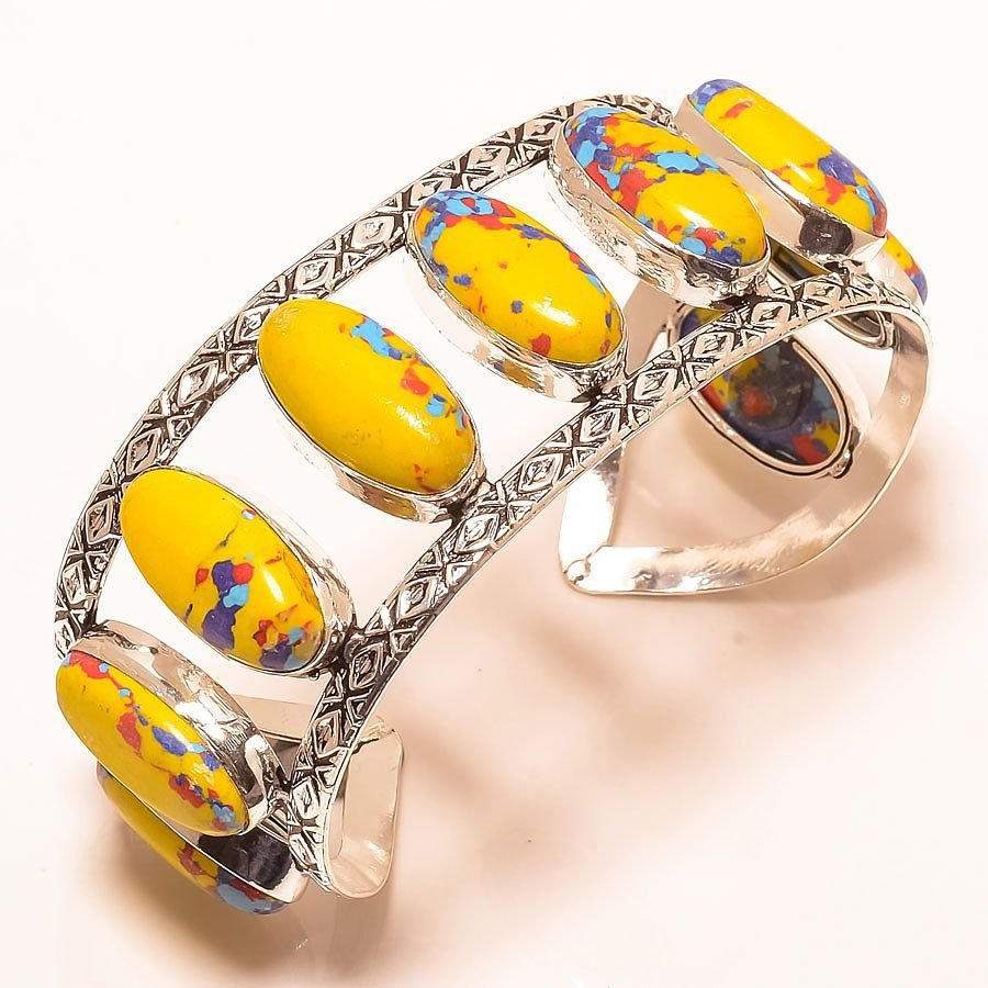 Yellow Cooper Sterling Silver Plated Bangle