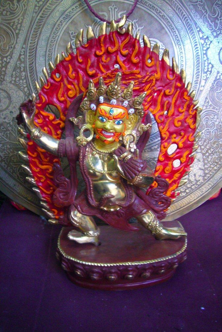 "Vajrapani Bodhisattva power Buddhas Gold finish 11"""