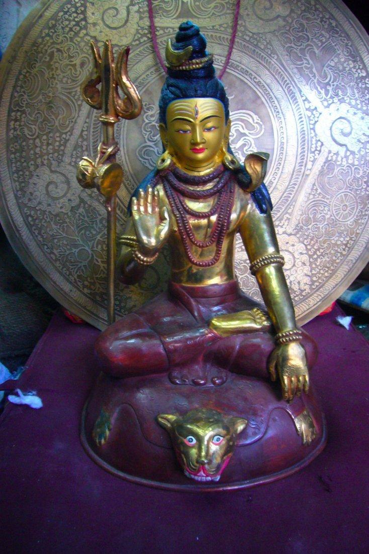 Lord Shiva with Trident Hindu God SHIVA Statue Handmade