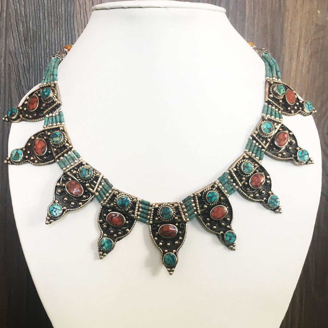 Genuine Turquoise Beads Necklace