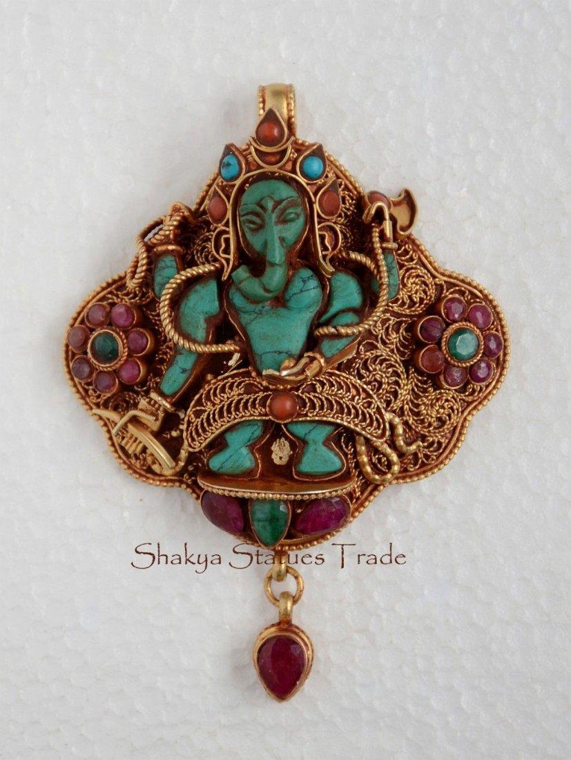 Tibetan Buddhist Sacred Ritual Sterling Silver Ghau Gau