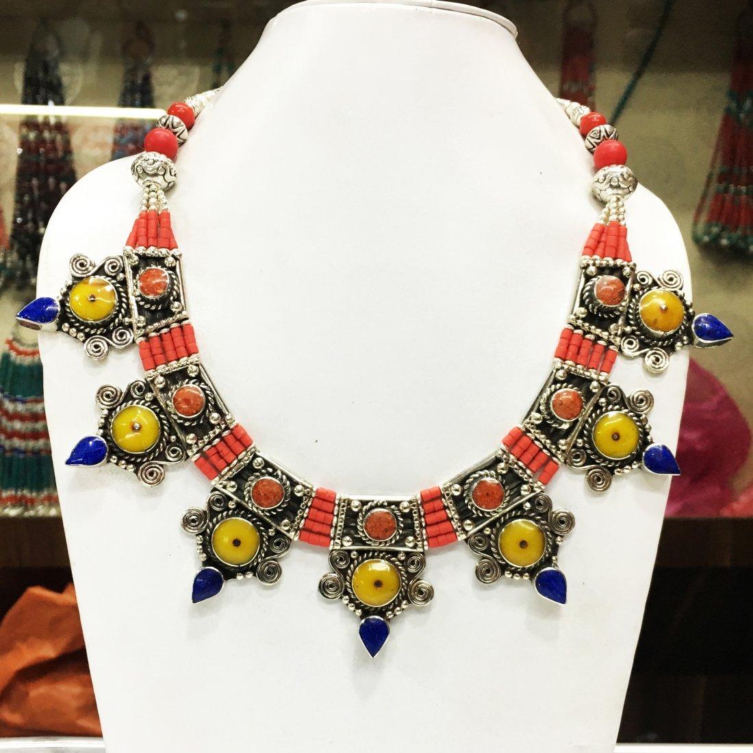 Ethnic Antique Choker Handmade Amber Necklace