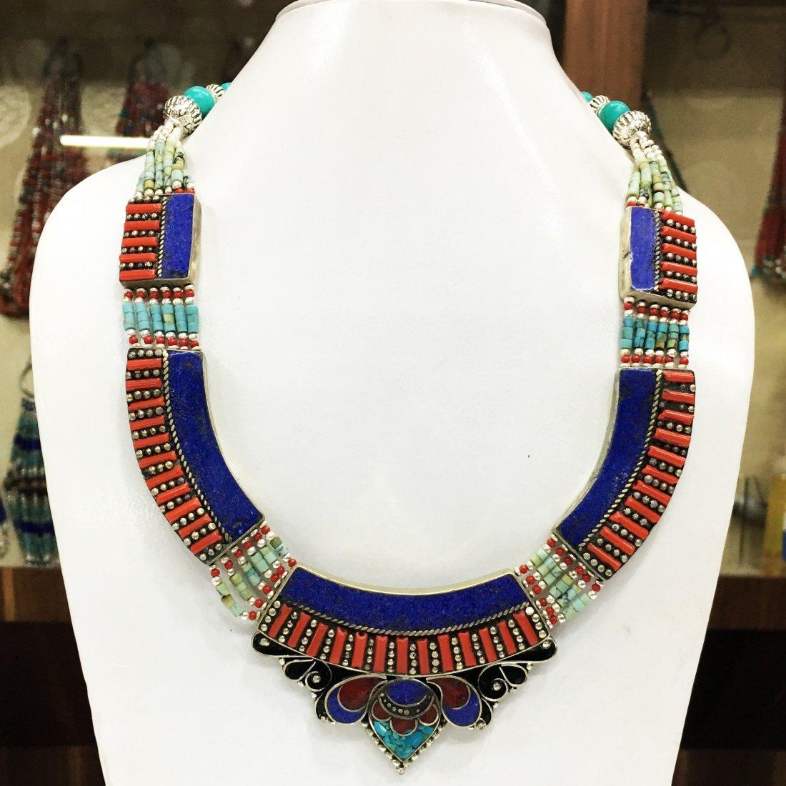 Tibetan Turquoise Nepali Statement Necklace
