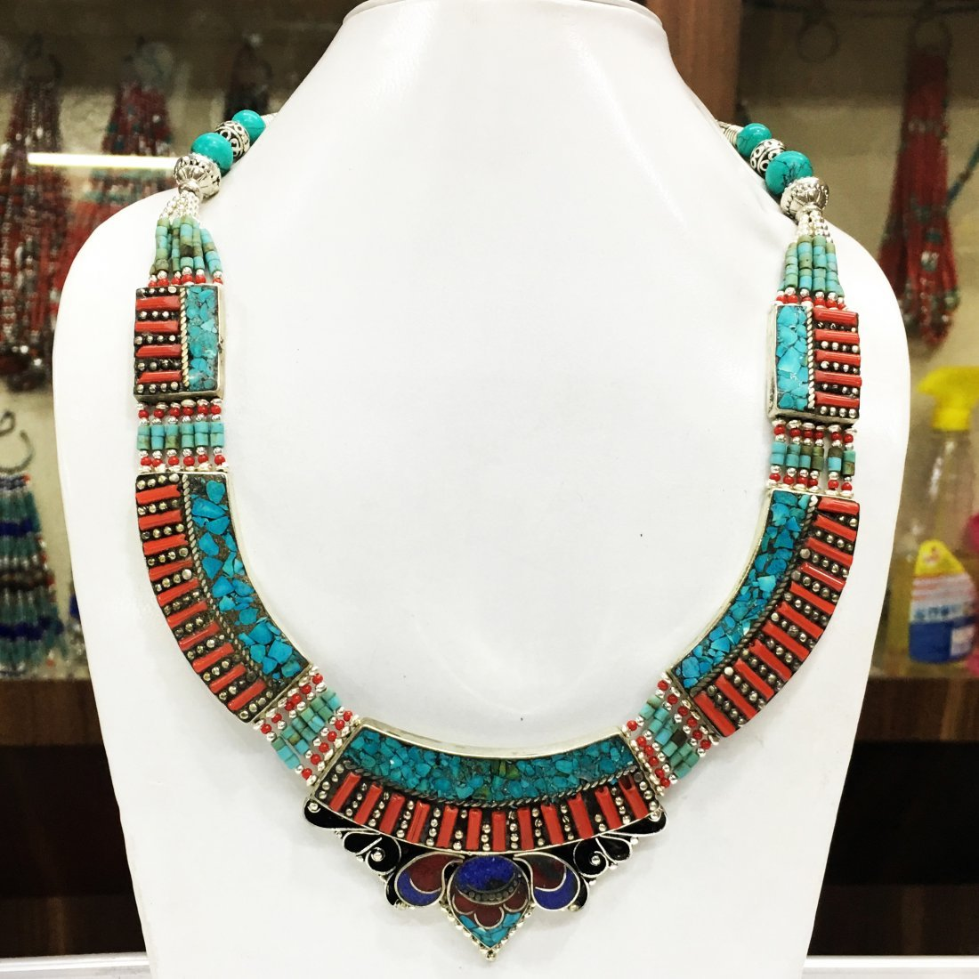 Tibetan Turquoise Statement Necklace