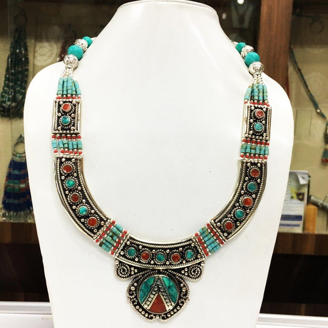 Banjara Turquoise Tibetan Silver Necklace