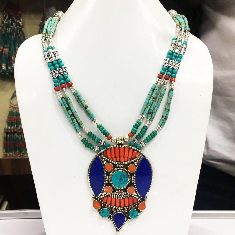 Mexican Tribal Vintage Pendant Necklace