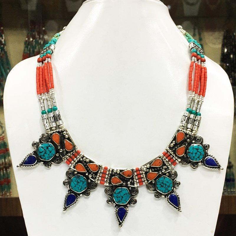 Tibetan Ethnic Tibetan Silver Handmade Choker Necklace