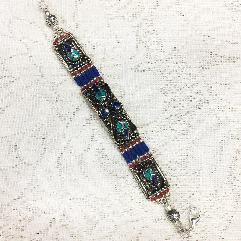 Vintage Bohemia Antique Tibetan Silver Bracelet