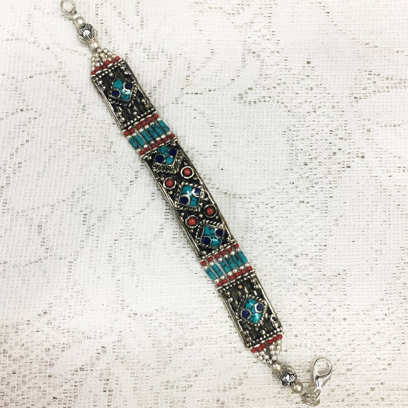Asian Tribal Ethnic Tibetan Silver Bracelet