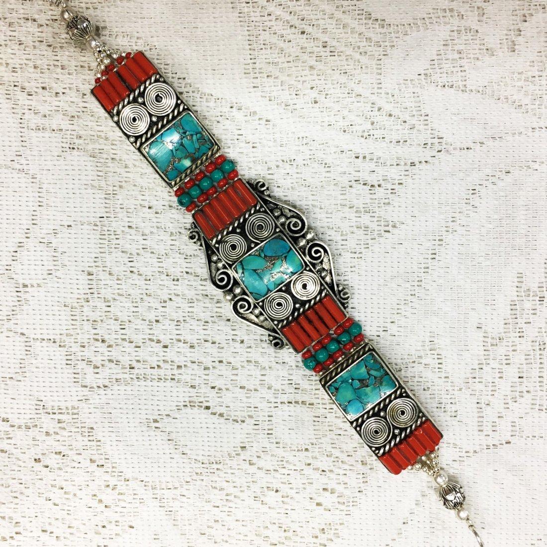 Vintage Nepalese Tibetan Silver Bracelet