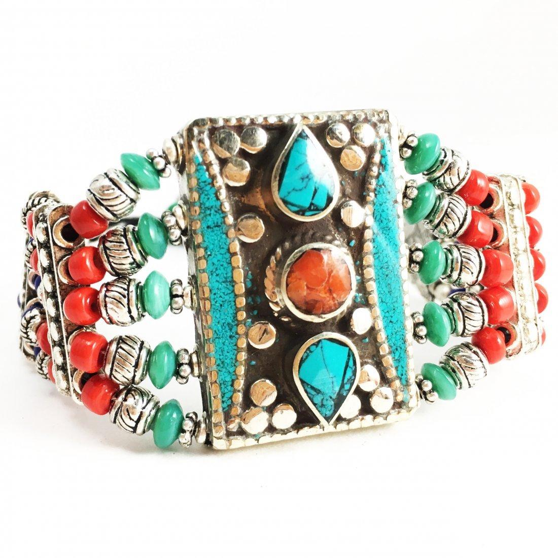 Tibetan Silver Women's & Man's Handmade Bracelet