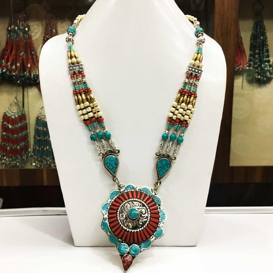 Bold Choker Handmade Long Necklace