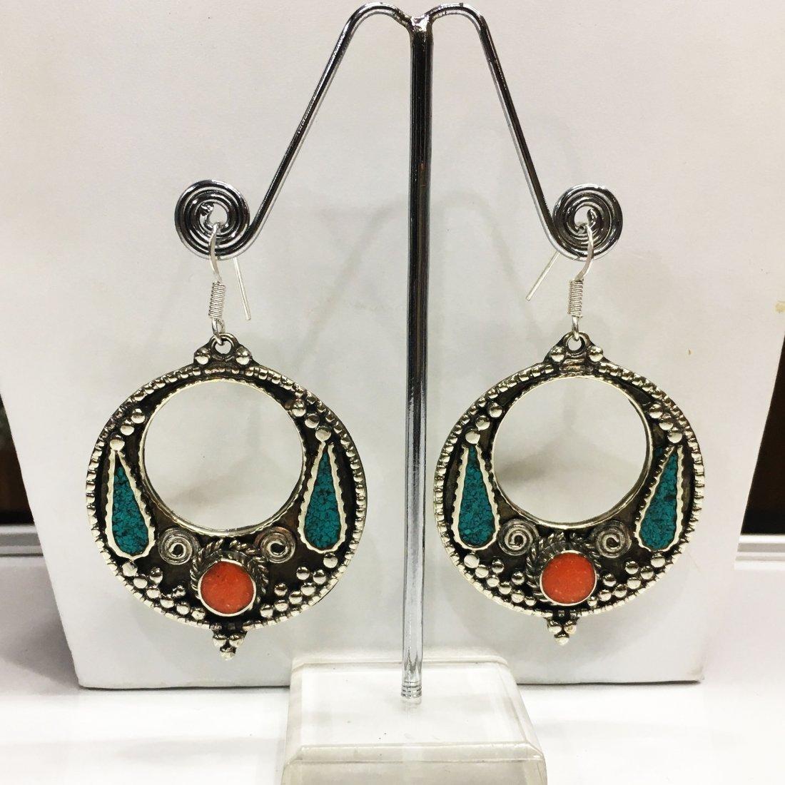 Hippie Boho Tribal Hook Tibetan Earring