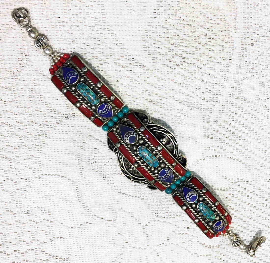 Red coral Vintage Boho Ethnic Handmade Bracelet