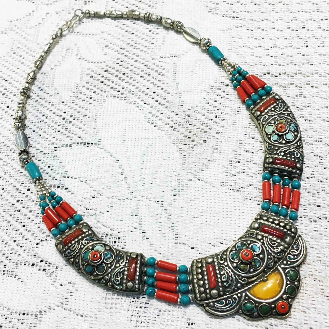 Hand carved One-of-a-kind Beautiful Tribal Necklace