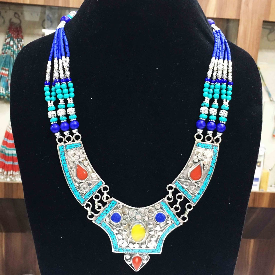 Tibetan Silver Handmade Ethnic Boho Necklace