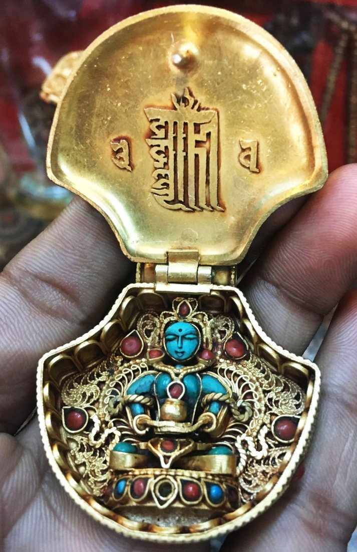 Tibetan Buddhist Ritual Sacred Ghau Prayer Box Pendant