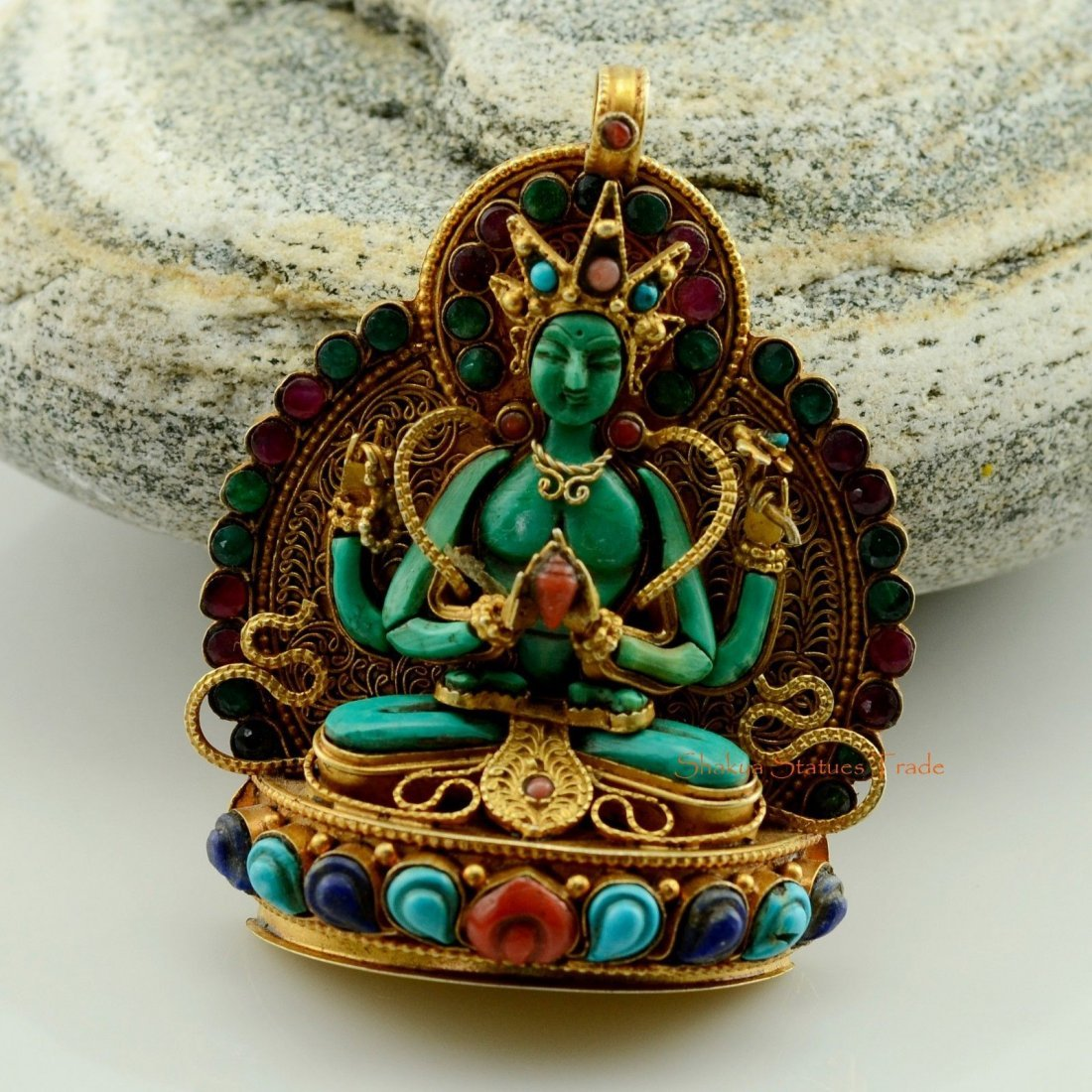 Tibetan Buddhist Ritual Sacred Ghau Prayer Box Silver
