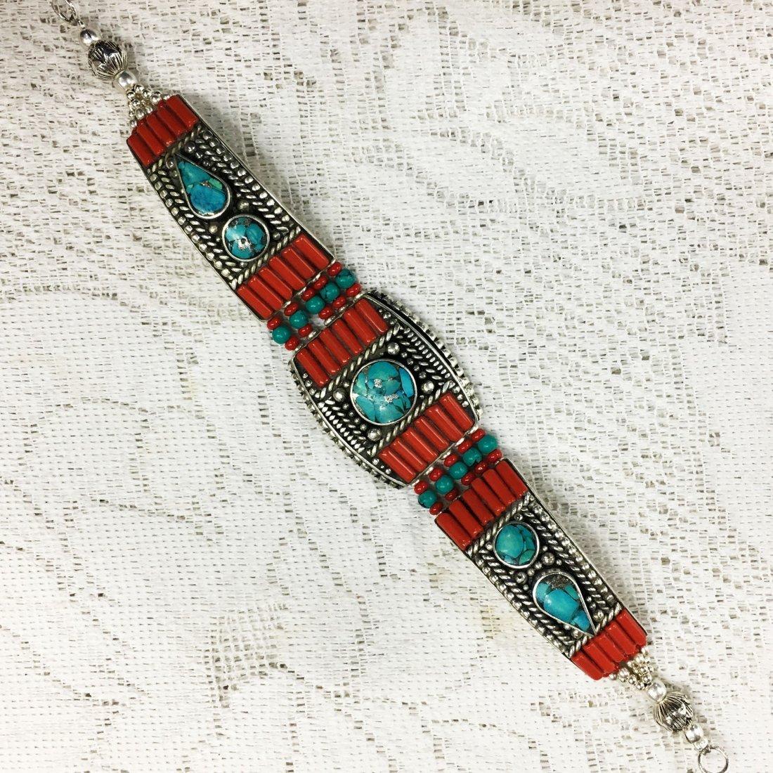 Tibetan Silver Handmade Ethnic Bracelet