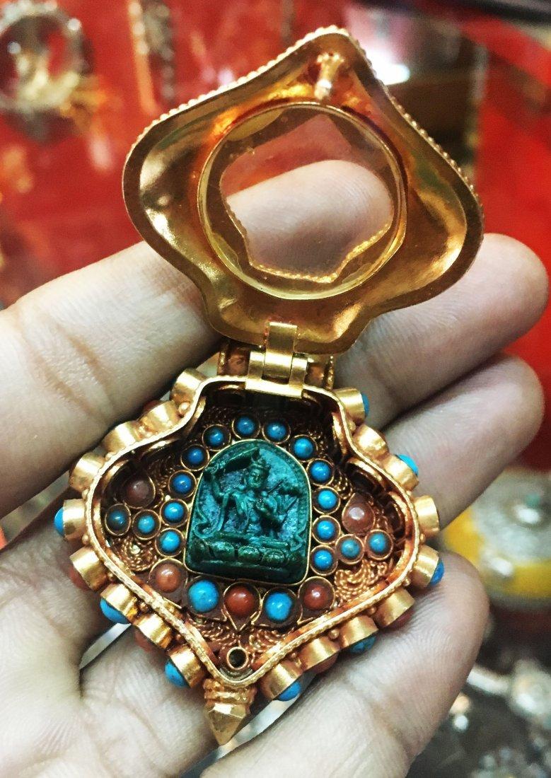 925 Sterling Silver Ghau Tibetan Prayer Pendant