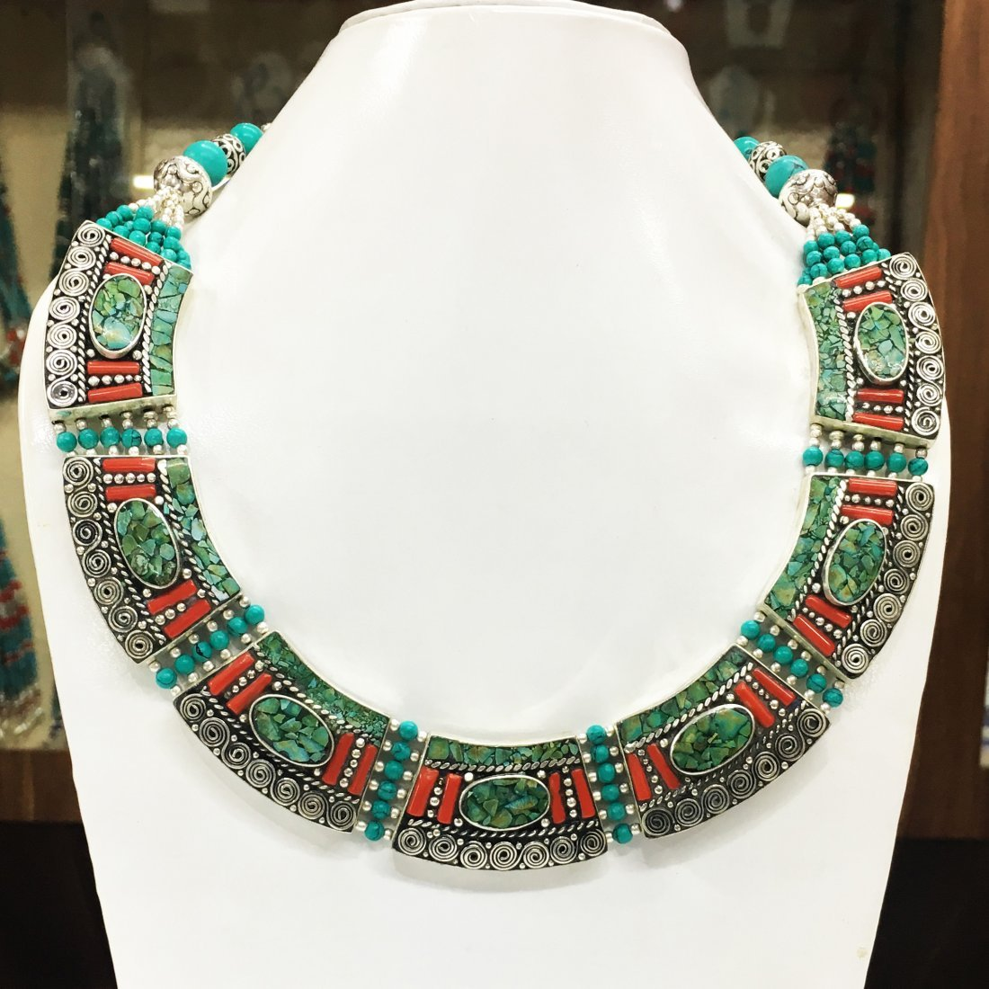 Tibetan Silver Boho Tribal Ethnic Necklace