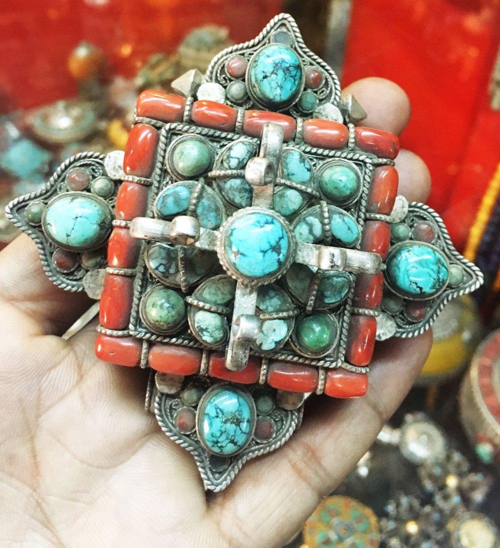 Tibetan Buddhist High Quality Silver Ghau Gau Pendant