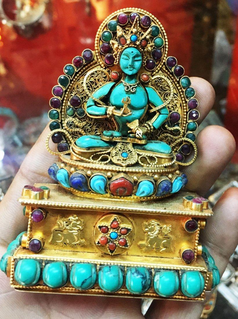 Sterling Silver Ghau Tibetan Buddhist Shrine Prayer Box