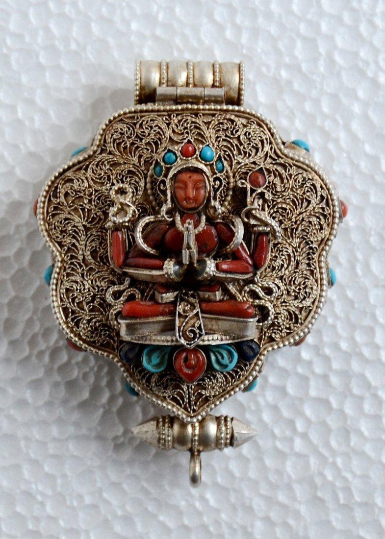 Chenrezig Ghau 925 Sterling Silver Buddhist Prayer box