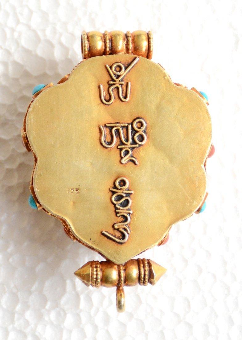 Manjushri Ghau 925 Sterling Silver Buddhist Prayer box - 5