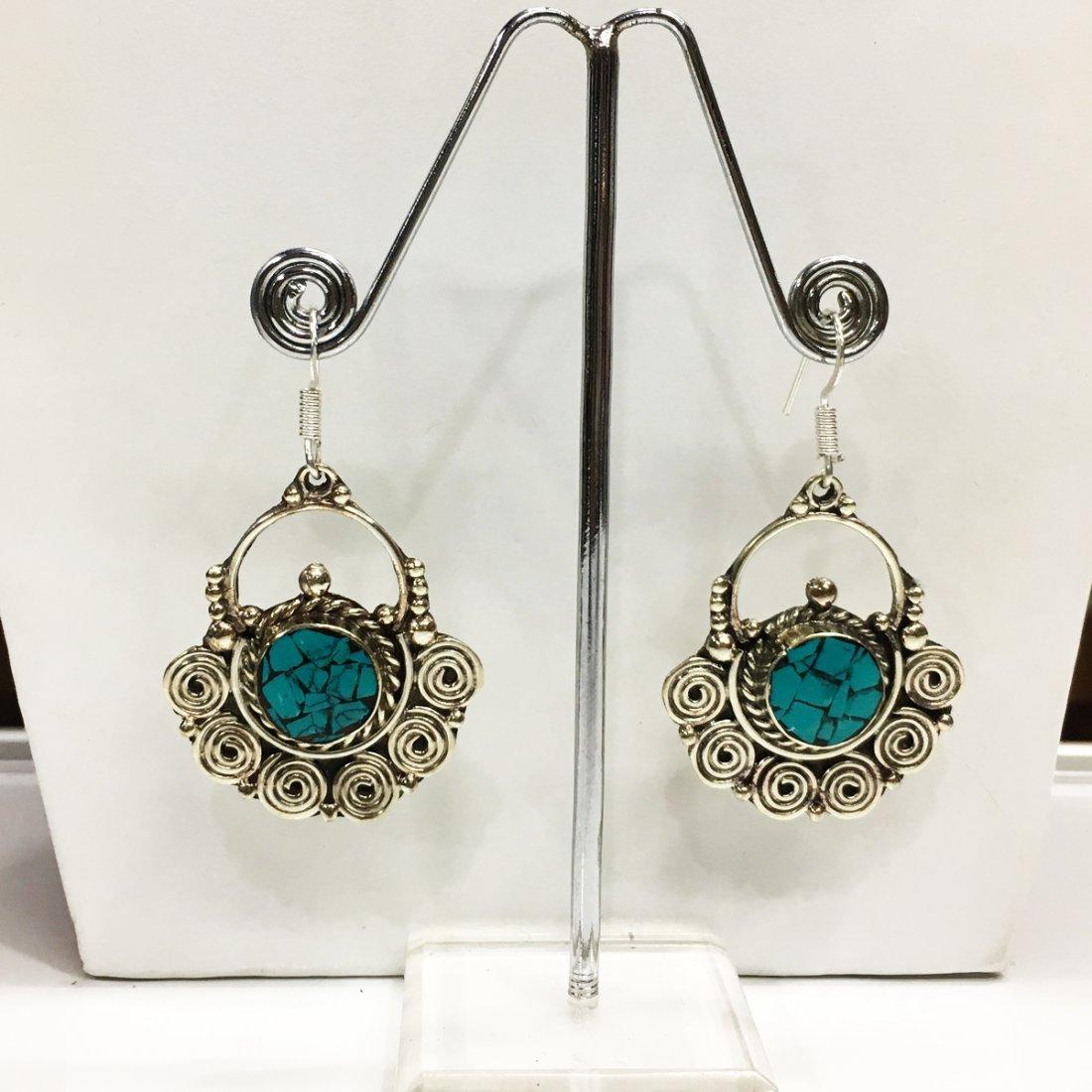 Tibetan Turquoise Antique Handmade Earring