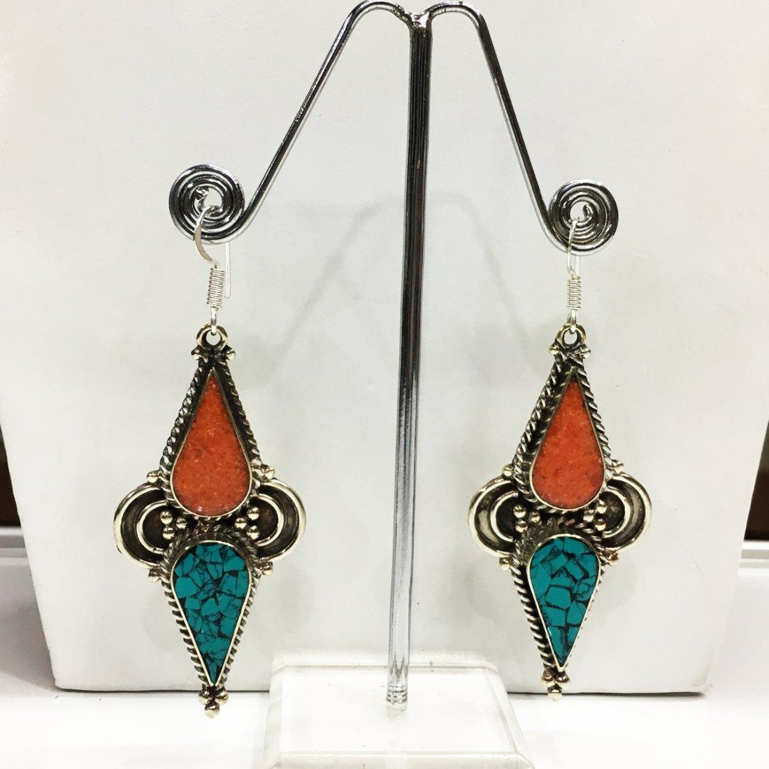 Nepali Handmade Tibetan Turquoise Earring