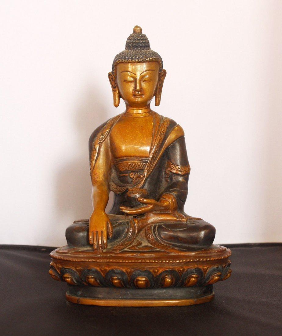 """Antique Shakyamuni Buddha Statue 4.5"""" W x 8"""" H x 4"""""""