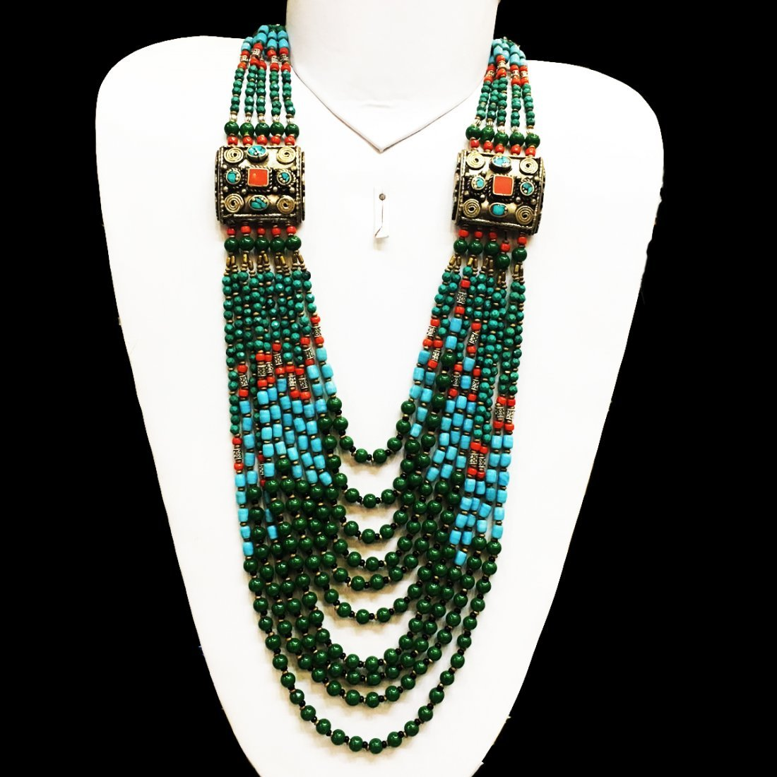 Natural Ethnic Tibetan Turquoise Necklace