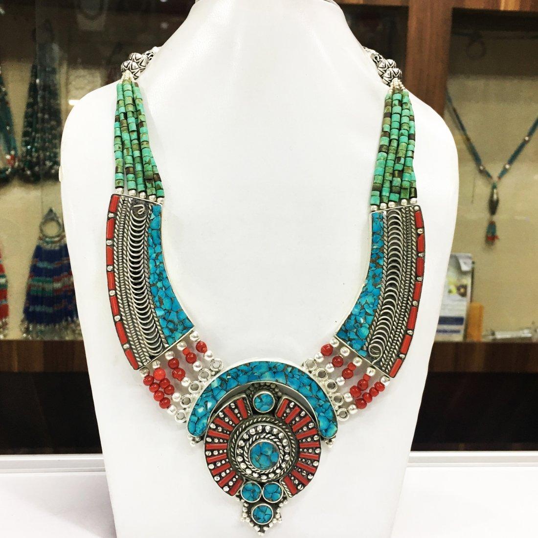 Ethnic Turquoise Bohemian Vintage Necklace