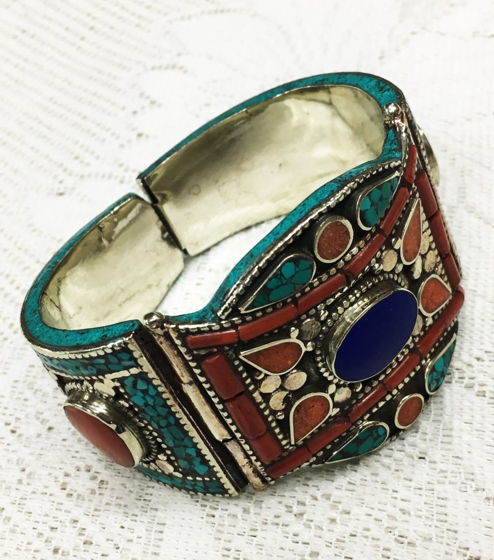 Tibetan Silver Handmade Ethnic Boho Bangle