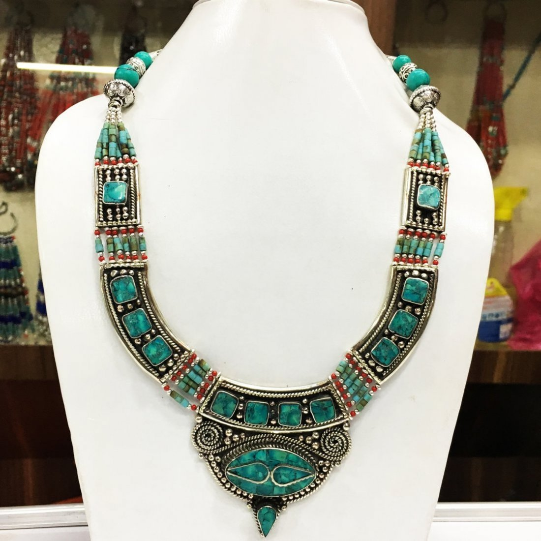 Tibetan Turquoise Handmade Necklace
