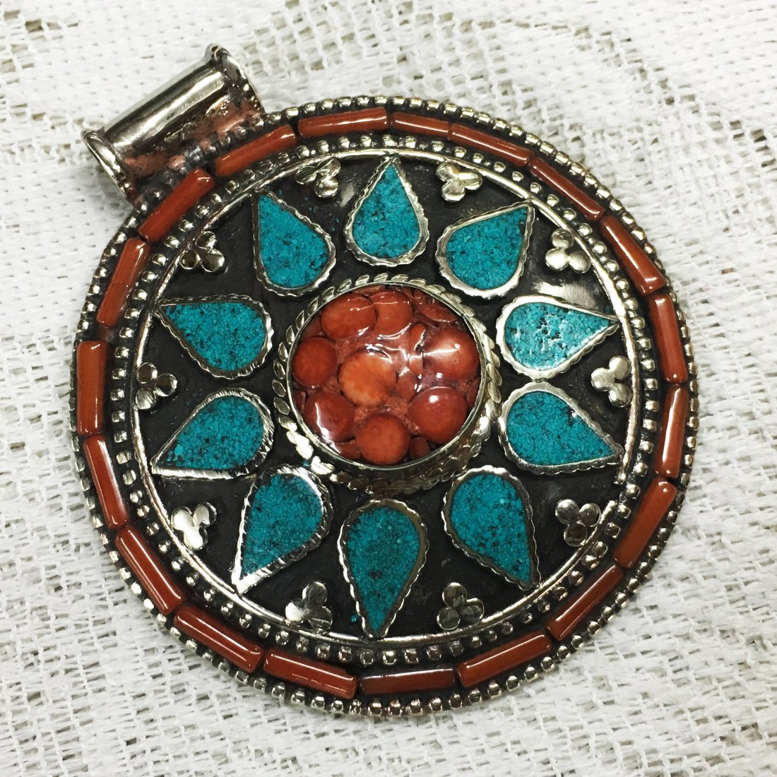 Tibetan Tribal Ethnic Tibetan Silver Pendant