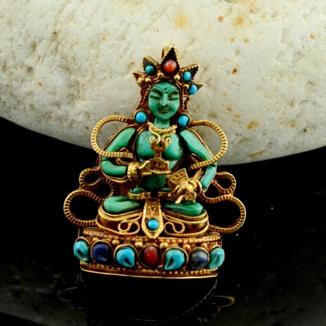 Vajrasattva Ghu 925 Sterling Silver Buddhist Prayer box