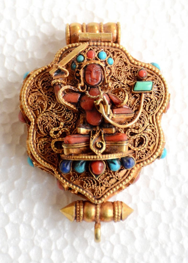 Manjushri Ghau 925 Sterling Silver Buddhist Prayer box