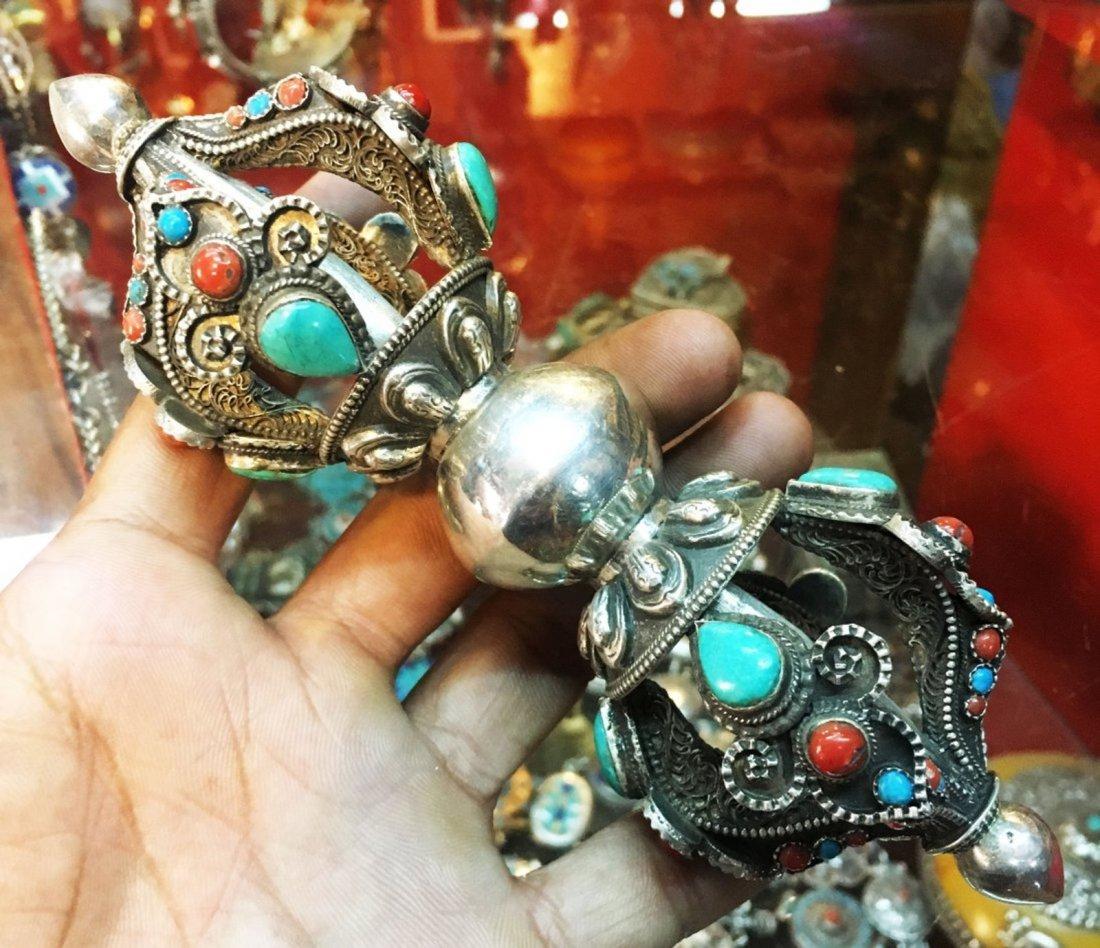 """Buddhsit 6"""" Vajra or Dorje 925 Sterling Silver"""