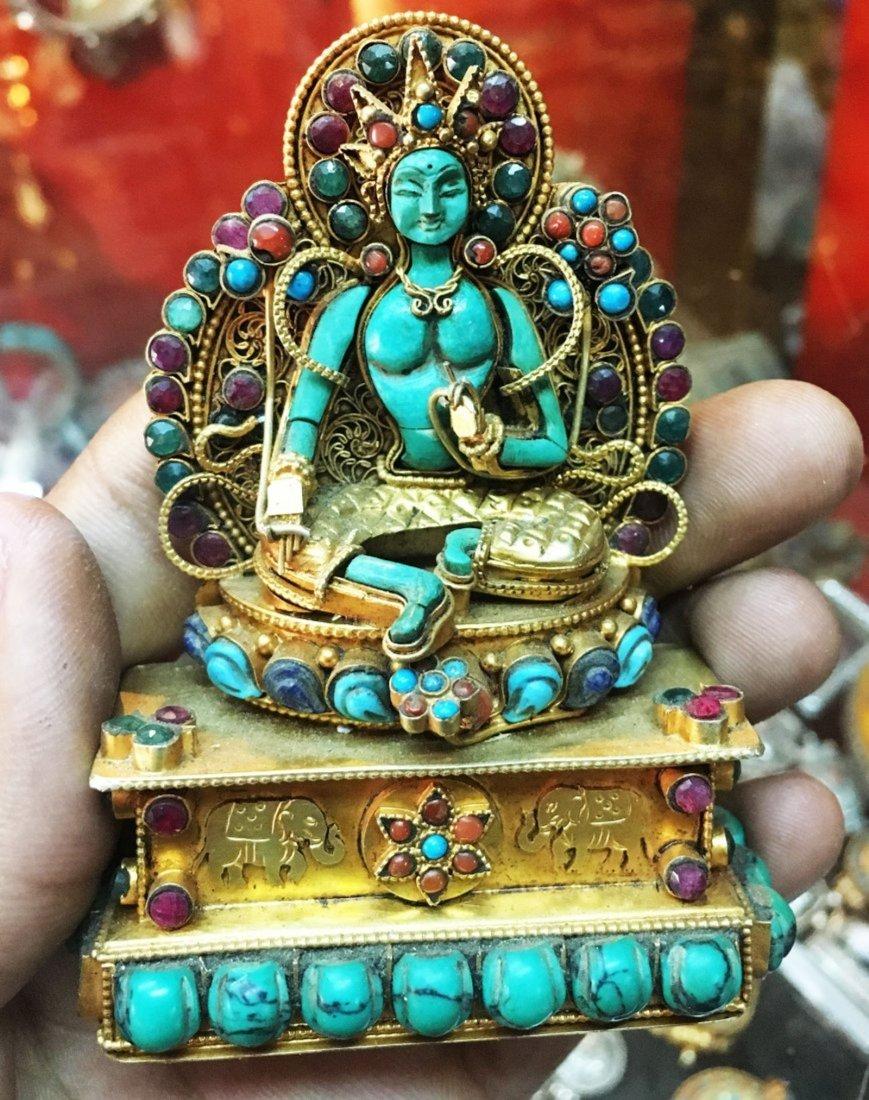 Tara 925 Sterling Silver Ghau Buddhist Prayer box