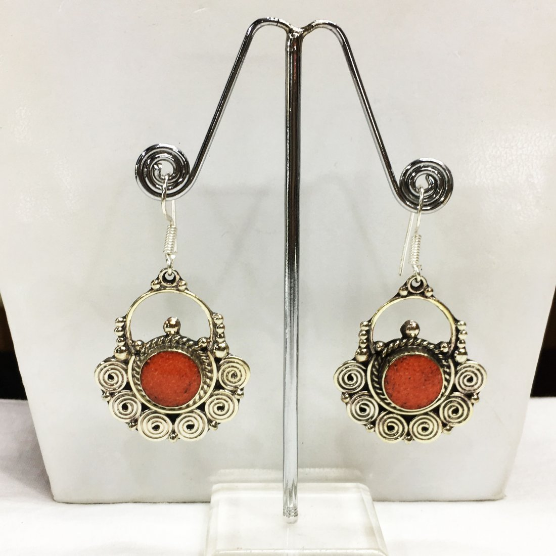 Tibetan Silver Boho Tribal Ethnic Earring