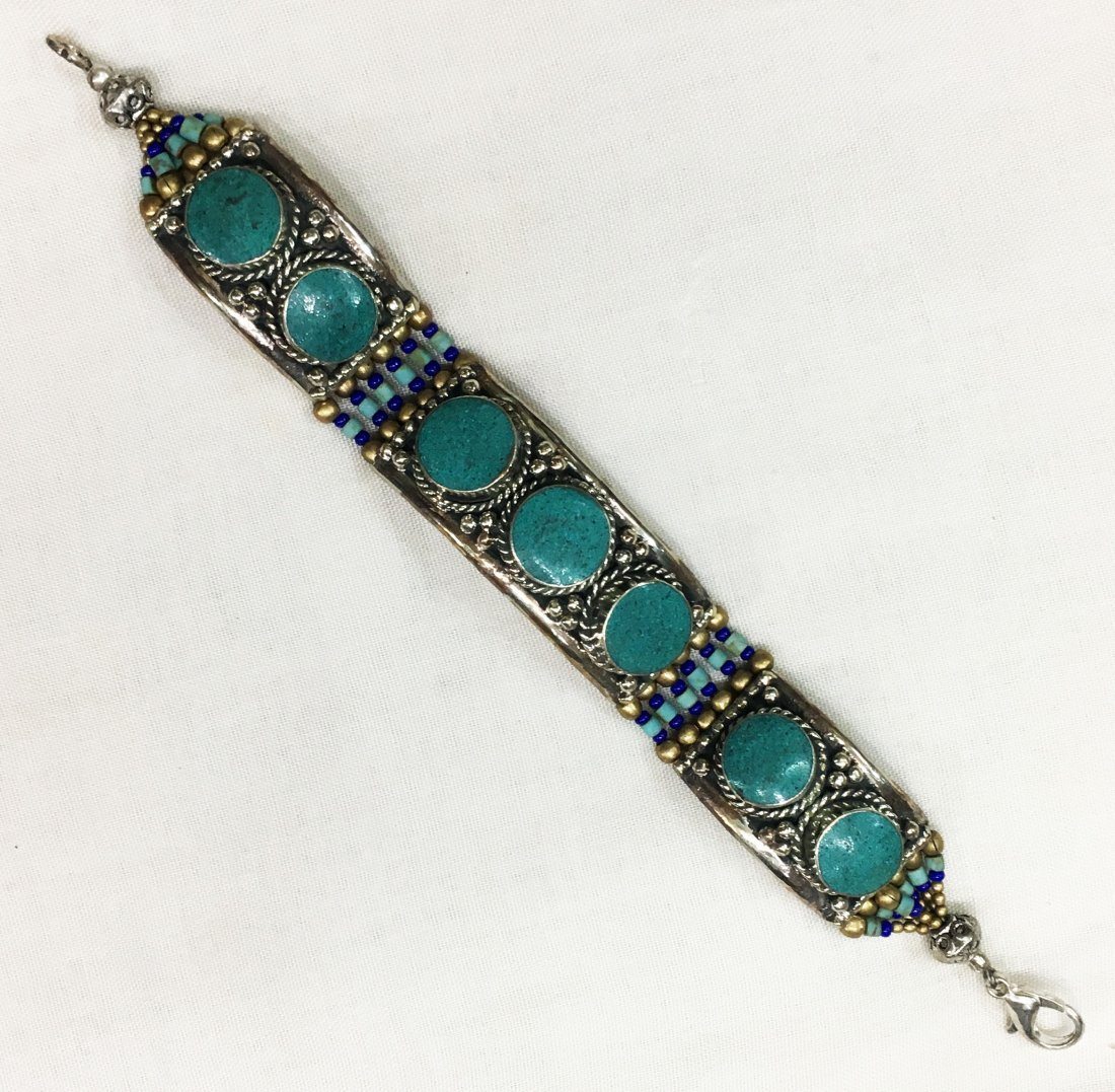 Vintage Handmade Tibetan Silver Bracelet