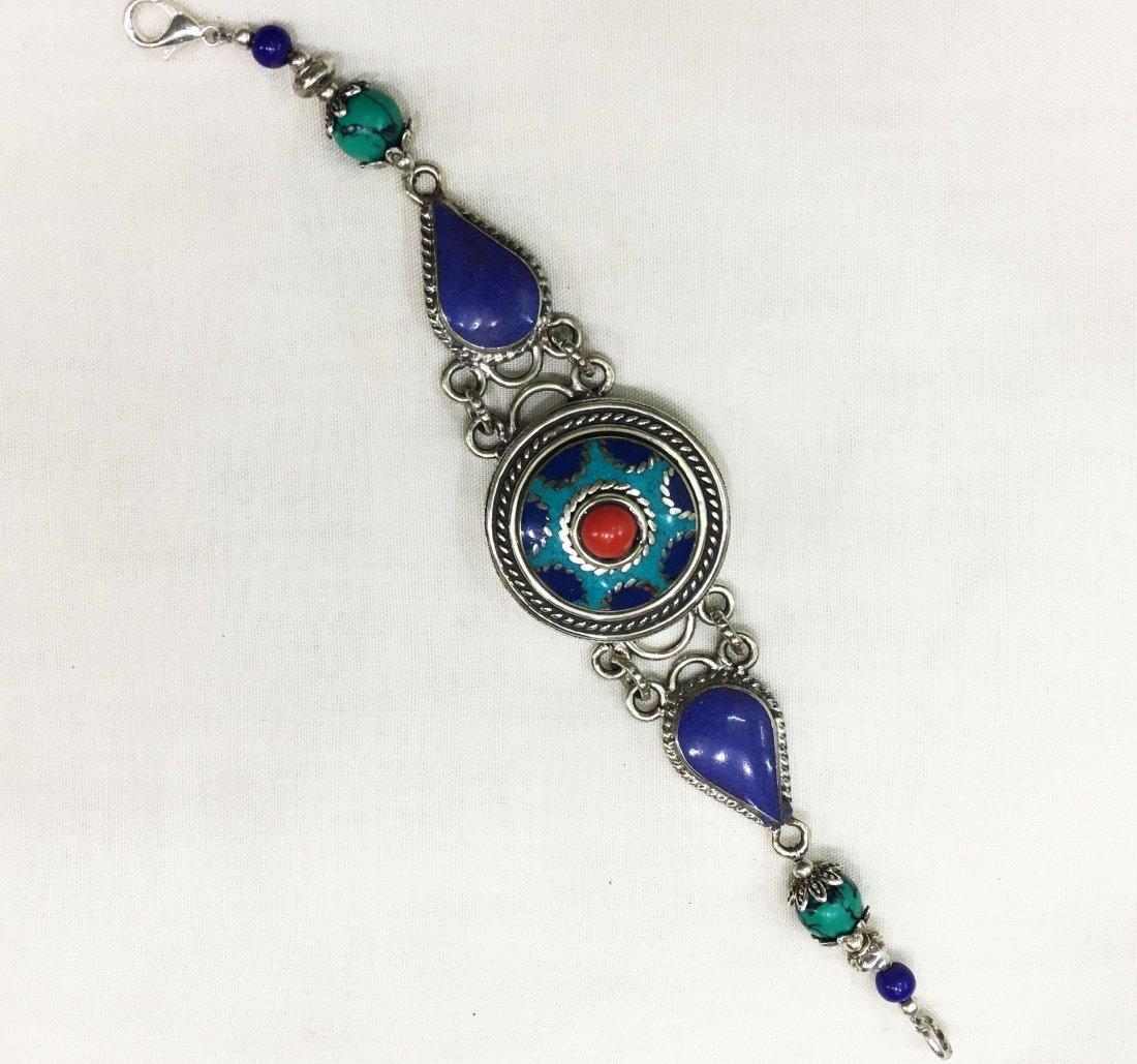 Tibetan Silver Handmade Ethnic Boho Bracelet