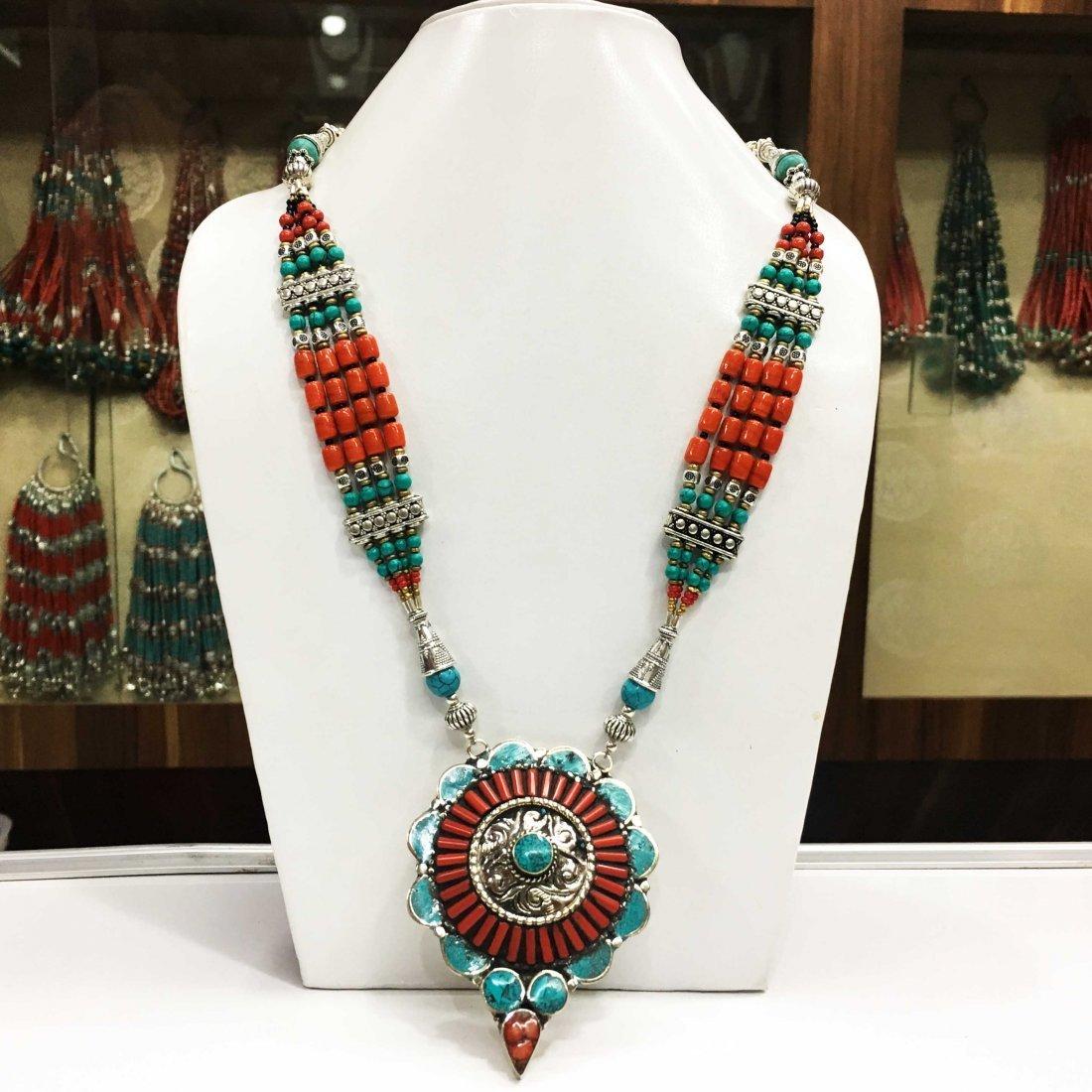 Ethnic Tibetan Turquoise Beautiful Necklace